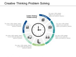 Creative Thinking Problem Solving Ppt Powerpoint Presentation Ideas Format Cpb