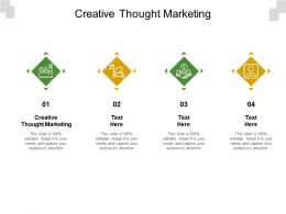Creative Thought Marketing Ppt Powerpoint Presentation Gallery Template