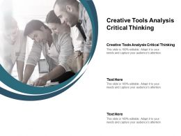 Creative Tools Analysis Critical Thinking Ppt Powerpoint Presentation Infographic Cpb