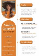 Creative Visual Resume Design For Journalists And Professionals