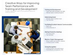 Creative Ways For Improving Team Performance With Training And Development