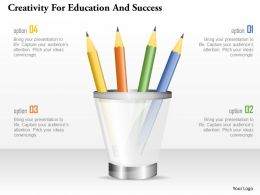 Creativity For Education And Success Powerpoint Templates