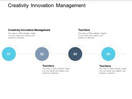 Creativity Innovation Management Ppt Powerpoint Presentation Inspiration Cpb