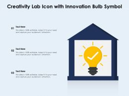 Creativity Lab Icon With Innovation Bulb Symbol