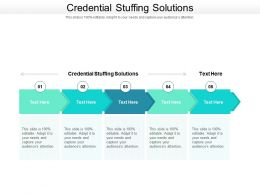 Credential Stuffing Solutions Ppt Powerpoint Presentation File Styles Cpb