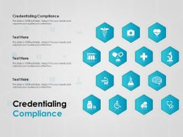 Credentialing Compliance Ppt Powerpoint Presentation Gallery Format Ideas
