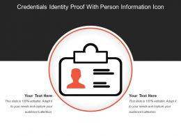 Credentials Identity Proof With Person Information Icon