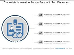 Credentials Information Person Face With Two Circles Icon