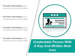 Credentials Person With A Key And Written