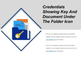 Credentials Showing Key And Document Under The Folder Icon