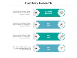 Credibility Research Ppt Powerpoint Presentation Professional Master Slide Cpb