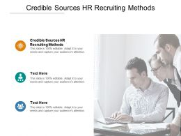 Credible Sources HR Recruiting Methods Ppt Powerpoint Presentation Gallery Cpb