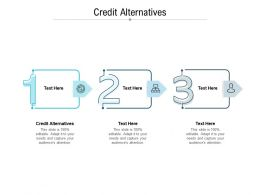 Credit Alternatives Ppt Powerpoint Presentation Pictures Graphics Cpb