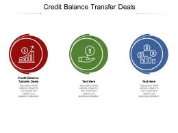 Credit Balance Transfer Deals Ppt Powerpoint Presentation Infographic Template Cpb