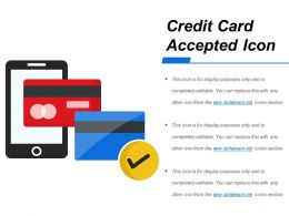 Credit Card Accepted Icon Example Of Ppt
