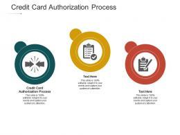 Credit Card Authorization Process Ppt Powerpoint Presentation Portfolio Format Cpb