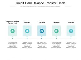 Credit Card Balance Transfer Deals Ppt Powerpoint Presentation Background Designs Cpb
