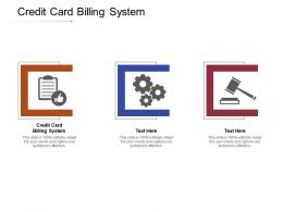 Credit Card Billing System Ppt Powerpoint Presentation Ideas Examples Cpb