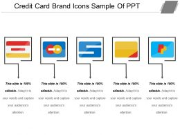 Credit Card Brand Icons Sample Of Ppt