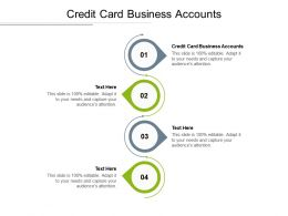 Credit Card Business Accounts Ppt Powerpoint Presentation Infographics Smartart Cpb