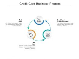 Credit Card Business Process Ppt Powerpoint Presentation Professional Skills Cpb