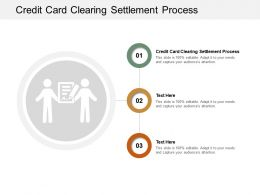 Credit Card Clearing Settlement Process Ppt Powerpoint Presentation Visual Aids Deck Cpb