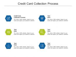 Credit Card Collection Process Ppt Powerpoint Presentation File Introduction Cpb