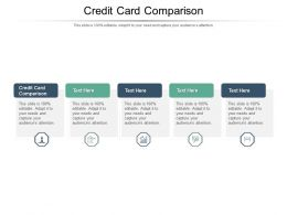 Credit Card Comparison Ppt Powerpoint Presentation Gallery Graphics Template Cpb