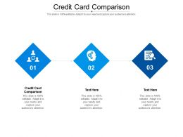 Credit Card Comparison Ppt Powerpoint Presentation Show Example Introduction Cpb