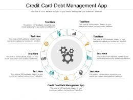 Credit Card Debt Management App Ppt Powerpoint Show Clipart Images Cpb
