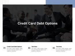 Credit Card Debt Options Ppt Powerpoint Presentation Outline Slide Portrait Cpb