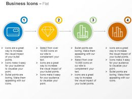 Credit Card Diamond Bar Chart Diagram Ppt Icons Graphics
