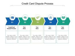 Credit Card Dispute Process Ppt Powerpoint Presentation Inspiration Background Designs Cpb
