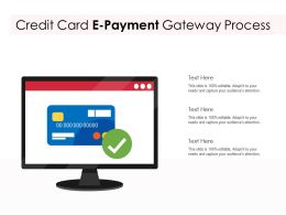 Credit Card E Payment Gateway Process