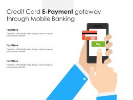 Credit Card E Payment Gateway Through Mobile Banking