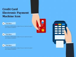 Credit Card Electronic Payment Machine Icon
