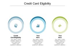 Credit Card Eligibility Ppt Powerpoint Presentation Icon Vector Cpb