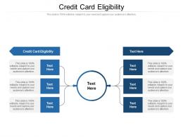 Credit Card Eligibility Ppt Powerpoint Presentation Inspiration Icons Cpb