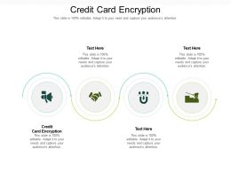 Credit Card Encryption Ppt Powerpoint Presentation Gallery Design Templates Cpb
