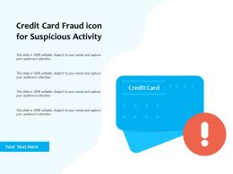 Credit Card Fraud Icon For Suspicious Activity