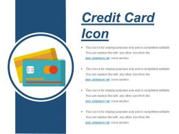 Credit Card Icon Sample Of Ppt Presentation