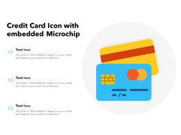 Credit Card Icon With Embedded Microchip