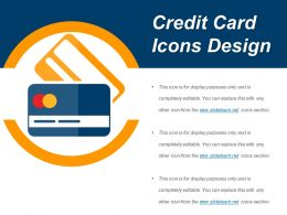Credit Card Icons Design Ppt Sample Download