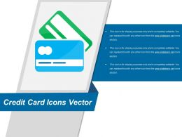 Credit Card Icons Vector Powerpoint Slide Inspiration