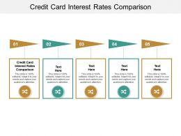 Credit Card Interest Rates Comparison Ppt Powerpoint Presentation Pictures Template Cpb