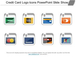 Credit Card Logo Icons Powerpoint Slide Show