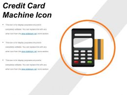 Credit Card Machine Icon Ppt Background Graphics