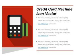 Credit Card Machine Icon Vector Powerpoint Slide Themes