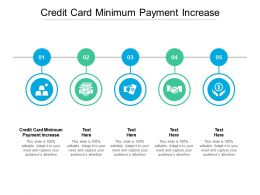 Credit Card Minimum Payment Increase Ppt Powerpoint Presentation Infographic Template Slideshow Cpb