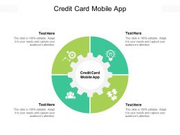 Credit Card Mobile App Ppt Powerpoint Presentation Professional Icon Cpb